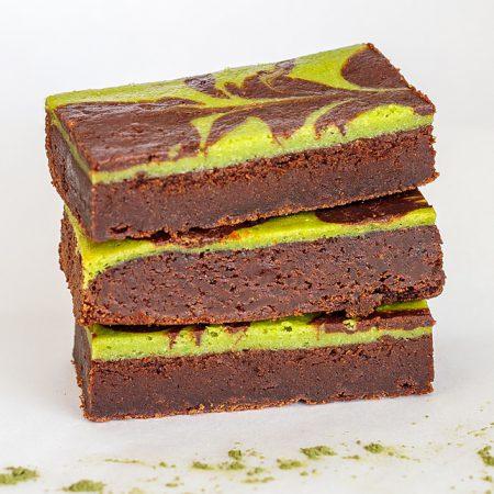 Matcha Groene Thee brownie