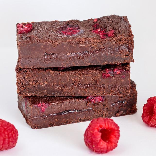 Vegan Framboos brownie