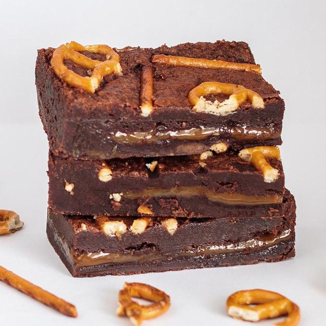 Karamel Zeezout brownie