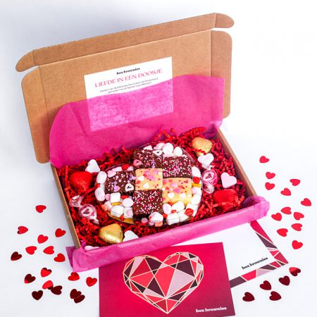 Valentijnsbox brownies